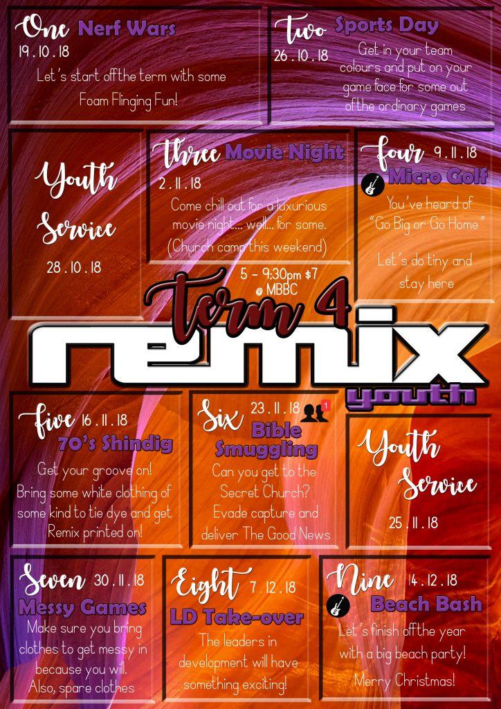 Remix Program - Term 4 2018