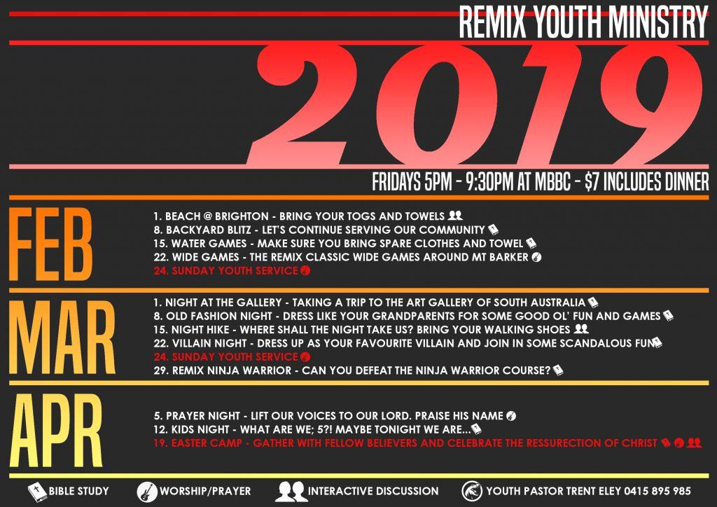 Remix Program - Term 1 2019